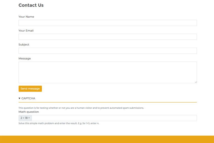 CAPTCHA for Drupal Webform contact forms